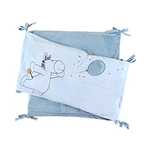 Noukies BB1740.04 Achille und Zebrito Veloudoux-Bettumlauf, blau