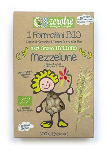 03 Zerotre mangia e scopri Mezzelune di Semola Bio - 250 g
