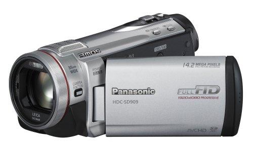 Panasonic HDC-SD909EGS Full HD Camcorder (SD-Kartenslot, 12-fach opt. Zoom, 8,8 cm (3,5 Zoll) Display, Bildstabilisator, 3D kompatibel) silber