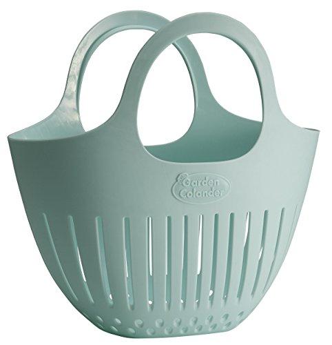 Hutzler Mini Colander garden basket, Small, Eggshell Blue