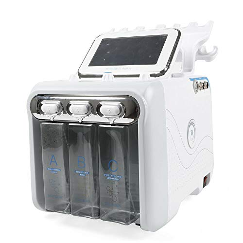 6-in-1 waterstof, zuurstof, schoonheidsmachine, H2-O2, Hydro Dermabrasie, reinigt de gezicht, huidverzorging, professionele rimpels