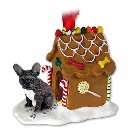 Conversation Concepts French Bulldog Gingerbread House Ornament