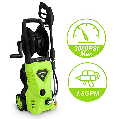 WHOLESUN 3000PSI Electric Pressure Washer 1.8GPM 1600W Power Washer...