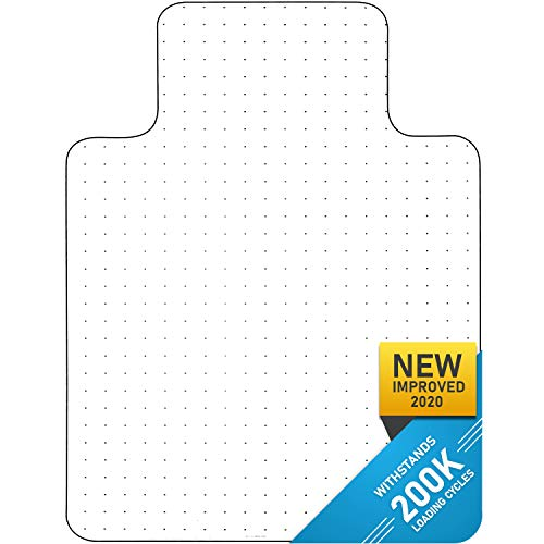 Heavy Duty Carpet Chair Mat Polycarbonate Crystal Clear Thick and Sturdy For Low and Medium Pile Carpets 36 X 48 X 1/8 With Lip Shipped Flat 2nd Generation New and Improved