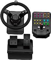 Logitech G Saitek Farm Sim Controller, Kit Simulazione Macchine Pesanti con Volante, Console di Comando, Pedale...