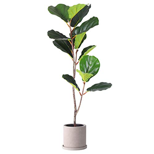 Fiddle Leaf Fig Artificial Trees Feels Like Real with Durable Quality( NO Pot!!!) (3.33 Ft Fiddle Leaf Fig, 1)
