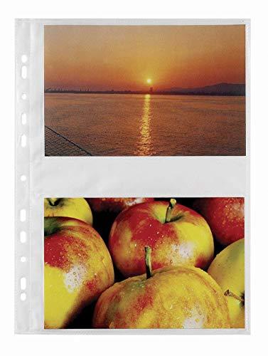 Favorit 100460148 - Busta Porta Foto 4 Tasche, 20 x 13 cm, Trasparente