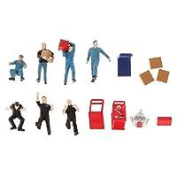 shama 1/64 人形 人物 人々 フィギュア 塗装人 修理屋さん 引越し業者 ワーカーキャラ 樹脂モデル 建築模型 レイアウト装飾 2セット