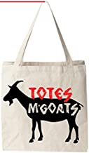 "Totes M'Goats - Natural Cotton Canvas Tote Bag 12 Oz (11""X14""X5"") Reusable Ideal for Groceries, Shopping, School and Offic..."