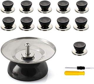 Duyuen 6Pcs Boutons De Couvercle De Pot,Poign/ées Universelles de Couvercles de Casserole Bouton de Couvercle Poign/ées Rempla/çables avec Vis,pour Bouton De Pot Remplacement Cuisine