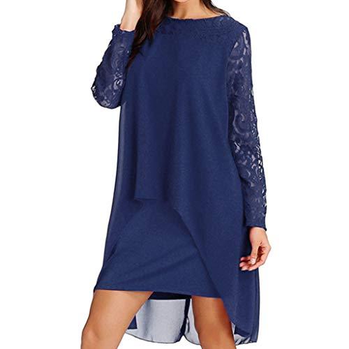 Vectry Vestidos Azul Vestidos Casuales Sueltos para Mujer Vestidos Elegantes para NiñaVestidos Boda Tallas Grandes Vestidos Gasa Vestidos Coctel Vestidos De Encaje Cortos De Fiesta