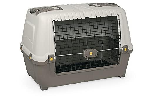 caisse de transport chien petmate skudo car gris/blanc - 77 x 43 x 51cm