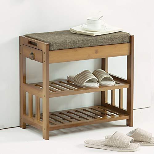 XUSHEN-HU Zapatero para pasillo y muebles, zapatero de madera maciza, para cambiar la puerta, para zapatos, taburete de almacenamiento simple y moderno