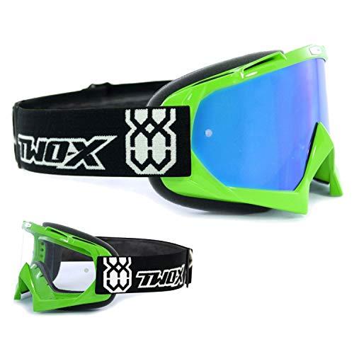 TWO-X Bomb Crossbrille MX Enduro Cross Brille Motocross iridium verspiegelt
