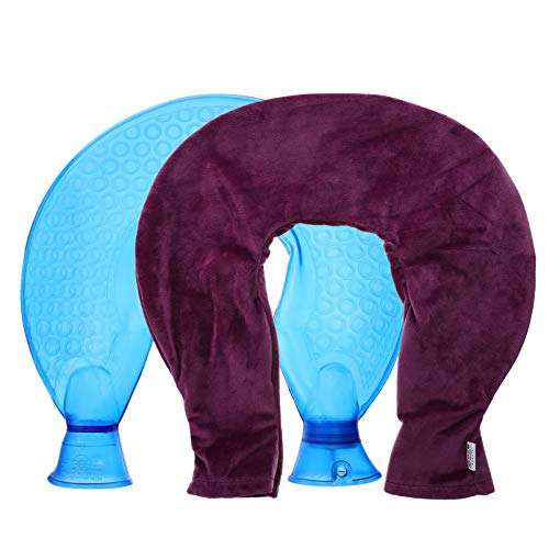 MILISTEN Bolsa de Agua Caliente de Felpa Púrpura en Forma de U Botella de Agua Caliente Cuello Hombro Calentamiento Bolsa de Agua Mantener Caliente Cuello Bolsa de Invierno Mano Pie