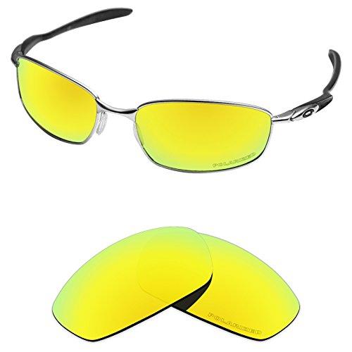 tintart rendimiento lentes de repuesto para batidora de Oakley anteojos de sol polarizadas grabado, Golden Yellow - Polarized, Talla unica