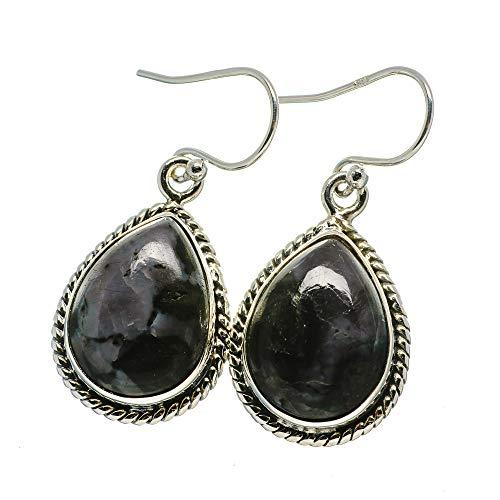 Ana Silver Co Gabbro Stone Earrings 1 3/8' (925 Sterling Silver)