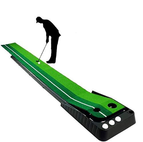 YINGJEE Golf Auto Rückkehr Puttingmatte professionelle tragbare Übungs Mini Golf Trainer Putting Matte Green Golfübungsgeräte für zu Hause Büro Gym