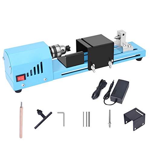 Legno Tornio Piccolo tornio 150W Beads lucidatore CC 12-24V da banco Torni per Handcraft la fabbricazione fai da te