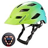 Exclusky Adult Road Bike Helmet with USB Rear Light, CE Certified Bicycle Cycle Helmets, Adjustable...