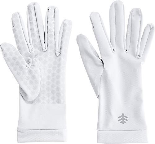 Coolibar UPF 50+ Gants de protection solaire unisexe Sawyer - blanc - Medium