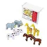 Theo Klein-66 Funny Puzzle Con 8 Animales Magneticos, Edad 1+, Con 2 x Jirafa, Elefante, Caballo Y Vaca, Multicolor (66)
