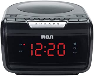 RCA RP5605R AM/FM CD Clock Radio with Large LED Display (Discontinued by Manufacturer)