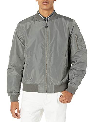 Goodthreads Men's Bomber Jacket, Grey, Medium