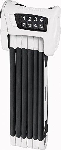 ABUS Faltschloss Bordo Combo 6100/90, White, 90 cm, 52638