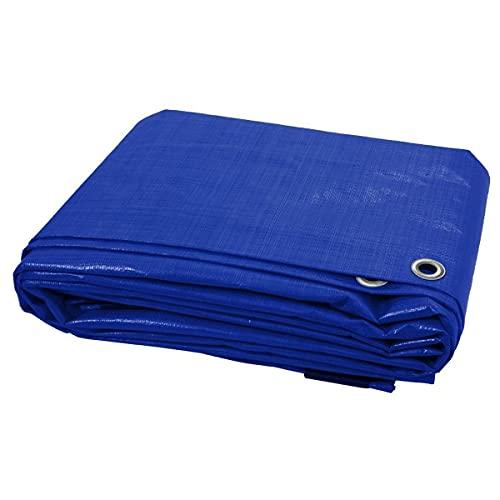 3 x 4 m Blue Tarpaulin Waterproof Furniture Caravan Cover Sheet Multipurpose
