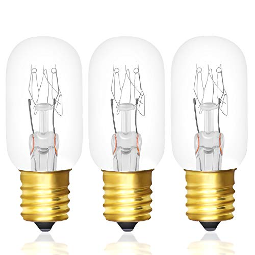 Primeswift WB36X10003 Microwave Light Bulb 40 W 130V Incandescent Lamp Bulbs Replacement for E17 Base Applicance,3 Pack