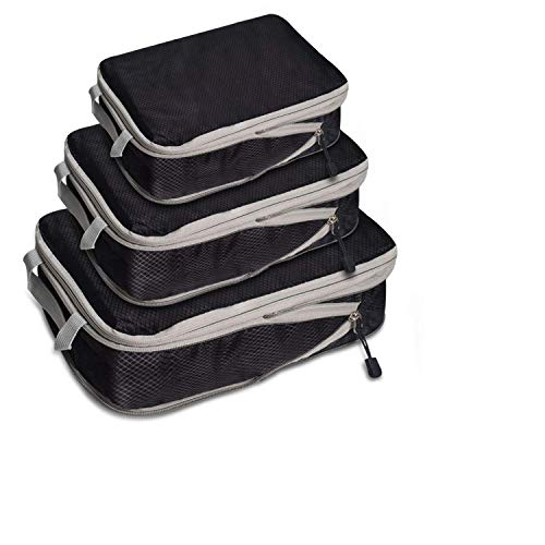 WITERY 圧縮バッグ 旅行圧縮バッグ トラベルポーチ ファスナー圧縮 スペース節約 防水 軽量 出張 収納バッグ 自宅 衣類仕分け 整理用 6/9/14L三点セット