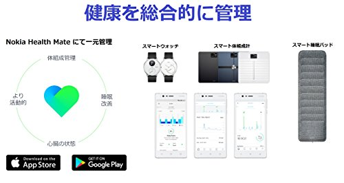 41Prp5rrJ7L-Nokia(Withings)のスマートウォッチ「Steel HR」をいまさら購入したのでレビューする!