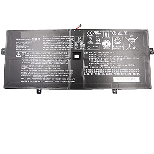 SUNNEAR L15M4P23 78Wh Laptop Battery Replacement for Lenovo Ideapad Yoga 910-13IKB Glass 80VG 80VF Yoga 5 Pro Series Notebook L15M4P21 L15C4P22 L15C4P21 5B10L22508 7.68V 4 Cells