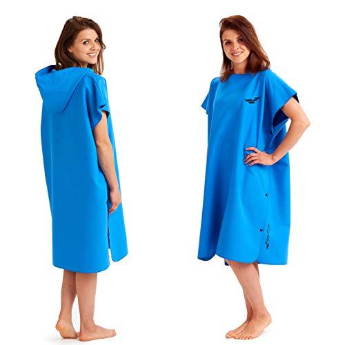 Extra lange omkleed handdoek, surf poncho voor dames en heren, omkleed handdoek op het strand, handdoek poncho uit lichte microvezel, sneldrogende en compacte omkleedponcho tegelijkertijd