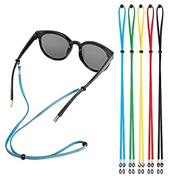 Eyeglasses Holder Straps Cord AugLifers Sunglasses Strap Adjustment for Men Women Sports Eyewear Retainer Chains Lanyards  5 Pack