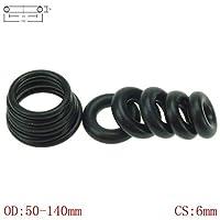 Oリングラバーコード、 CS 6ミリメートルOD50-140mm NBRゴムOリング、Oリング・オイルシールガスケット自動車シーリング (Size : 75mm x 6mm 20pcs, Thickness : 6mm)