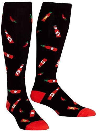 Sock It To Me Wide Calf Stretch Hot Sauce Knee High Socks