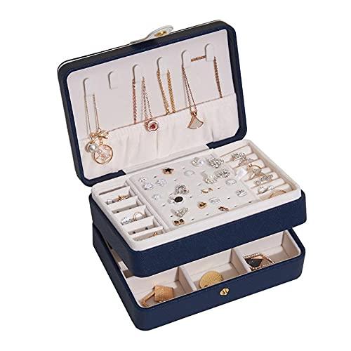 Joyero Pequeña, Caja de almacenamiento de joyas de múltiples capas creativa caja de joyería de almacenamiento de pendientes de gran capacidad-C4