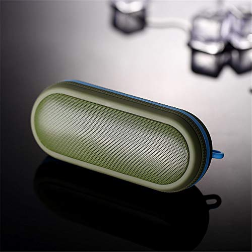 HJWL Bluetooth Lautsprecher, Tragbarer Schön im Aussehen, einfach und stilvoll, weich im Griff USB-Soundkarte, TF-Kartenwiedergabe Verwendet zum Wandern, Camping, Geschenke, etc (Color : C)
