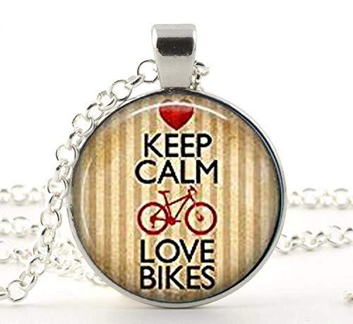 Keep Calm and Love Fahrräder Fahrrad Schmuck, Art Fahrrad Halskette Fahrrad Anhänger Charme