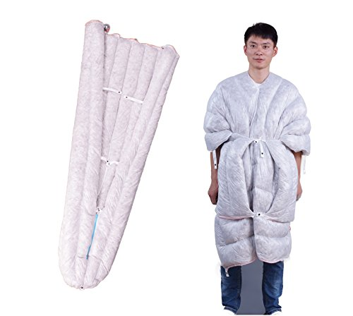 WIND HARD Wearable Goose Down Sleeping Bag UL Down Sleeping Bag 3 Season Quilt Envelope Down Sleeping Bag for Backpacking 850 Fill