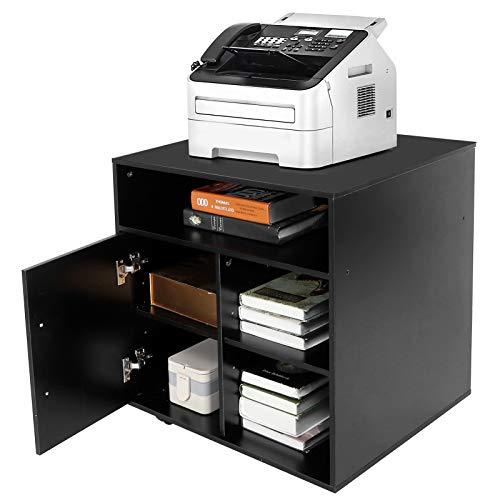 Soporte para Impresora de 3 Niveles con Ruedas, Archivador Móvil Armario de Suelo Armario de Impresora Carro de Trabajo Soporte de Impresora Carro Multifuncional Para Almacenamiento de Oficina