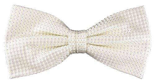 Designer Nœud papillon soie perlmutt crème gris à motifs - Nœud papillon soie silk