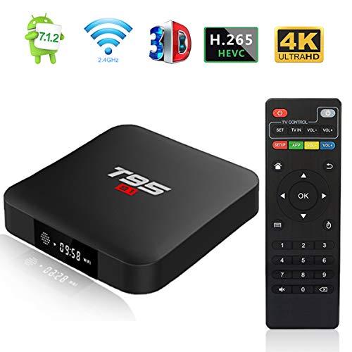 Android 7.1 TV Box, Android Box T95 S1 Smart TV Box mit 1 GB RAM 8 GB ROM, S905W Quad-core Cortex-A53 2.4 G WiFi Unterstützung 4K Full HD mit Fernbedienung