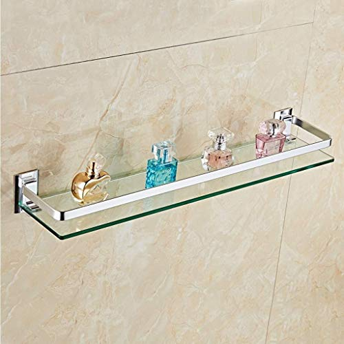 Yxsd Estantería de baño con barra de aluminio, cesta de ducha rectangular, organizador de cesta, soporte de pared (tamaño : 800 mm)