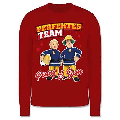 Shirtracer Feuerwehrmann Sam Mädchen - Perfektes Team - Penny & Sam - 104 (3/4 Jahre) - Rot - JH030K_Kinder_Pullover - JH030K - Kinder Pullover