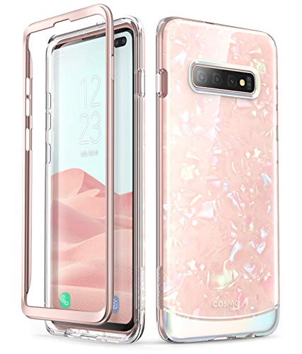 i-Blason Cosmo Series Designed for Galaxy S10 Plus Case Stylish Full-Body Protective Bumper Case Without Built-in Screen Protector for Samsung Galaxy S10 Plus 2019 Release (Pink)