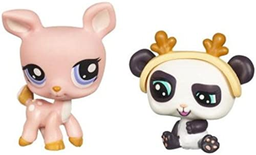 Littlest Pet Shop 2010 Assortment 'B' Series 2 Collectible Figure Deer & Panda Bear