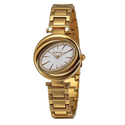 Libartly Genuino Taylor Cole Watch Detc028 Mujer Aleación Casual Relojes De Pulsera De Cuarzo Reloj Accesorios Bien Combinados - Dorado